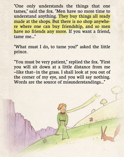 The Little Prince Fox Quotes Quotesgram