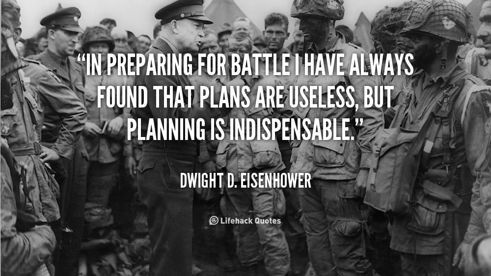 importance of business planning quotes eisenhower