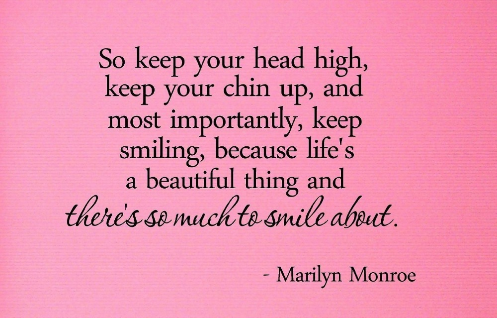 Keep Your Chin Up Motivational Quotes Quotesgram