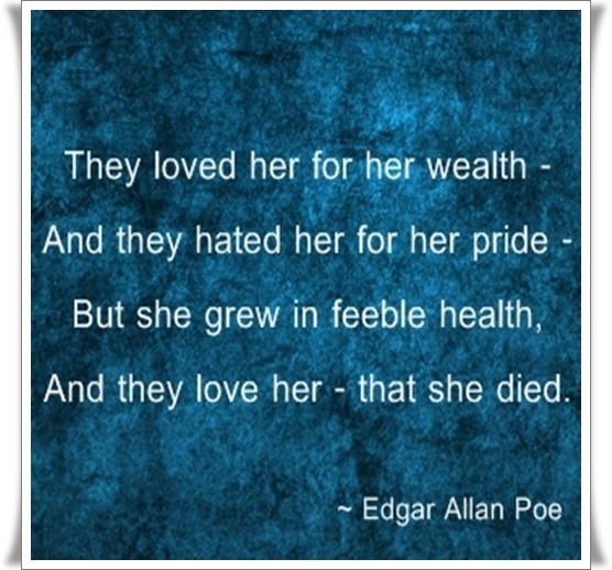 unburdened love by edgar allen poe By edgar allan poe romance, who loves to nod and sing  with drowsy head  and folded wing  among the green leaves as they shake far down within some .