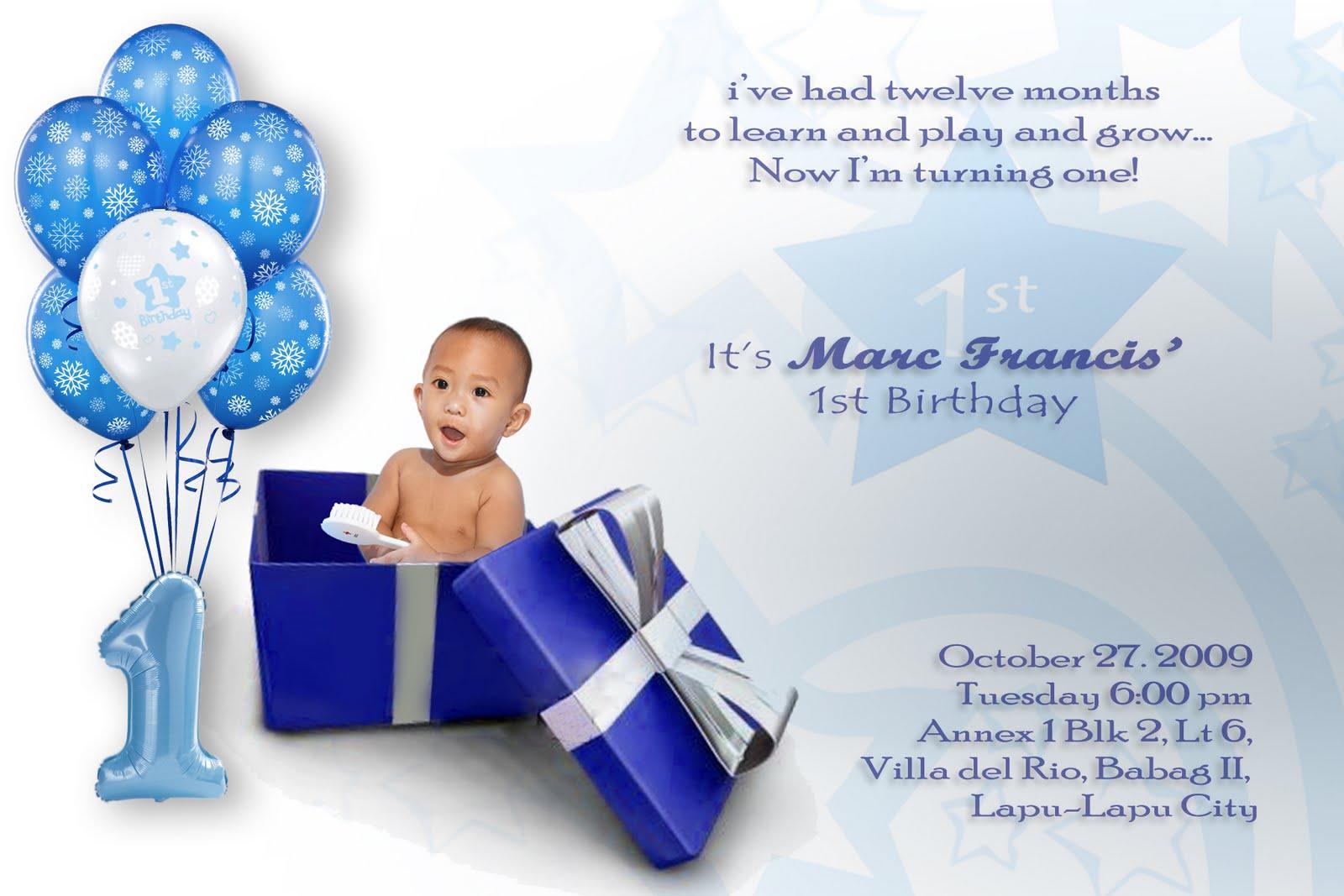 1 Birthday Invitation Quotes Quotesgram