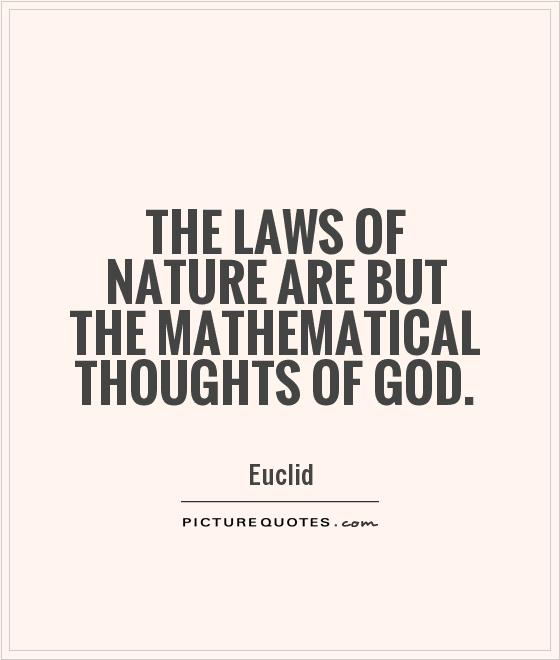 The Laws Of Nature And Nature S God
