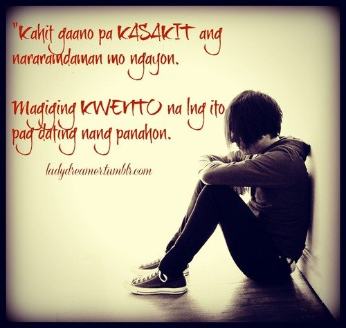Broken hearted quotes tagalog