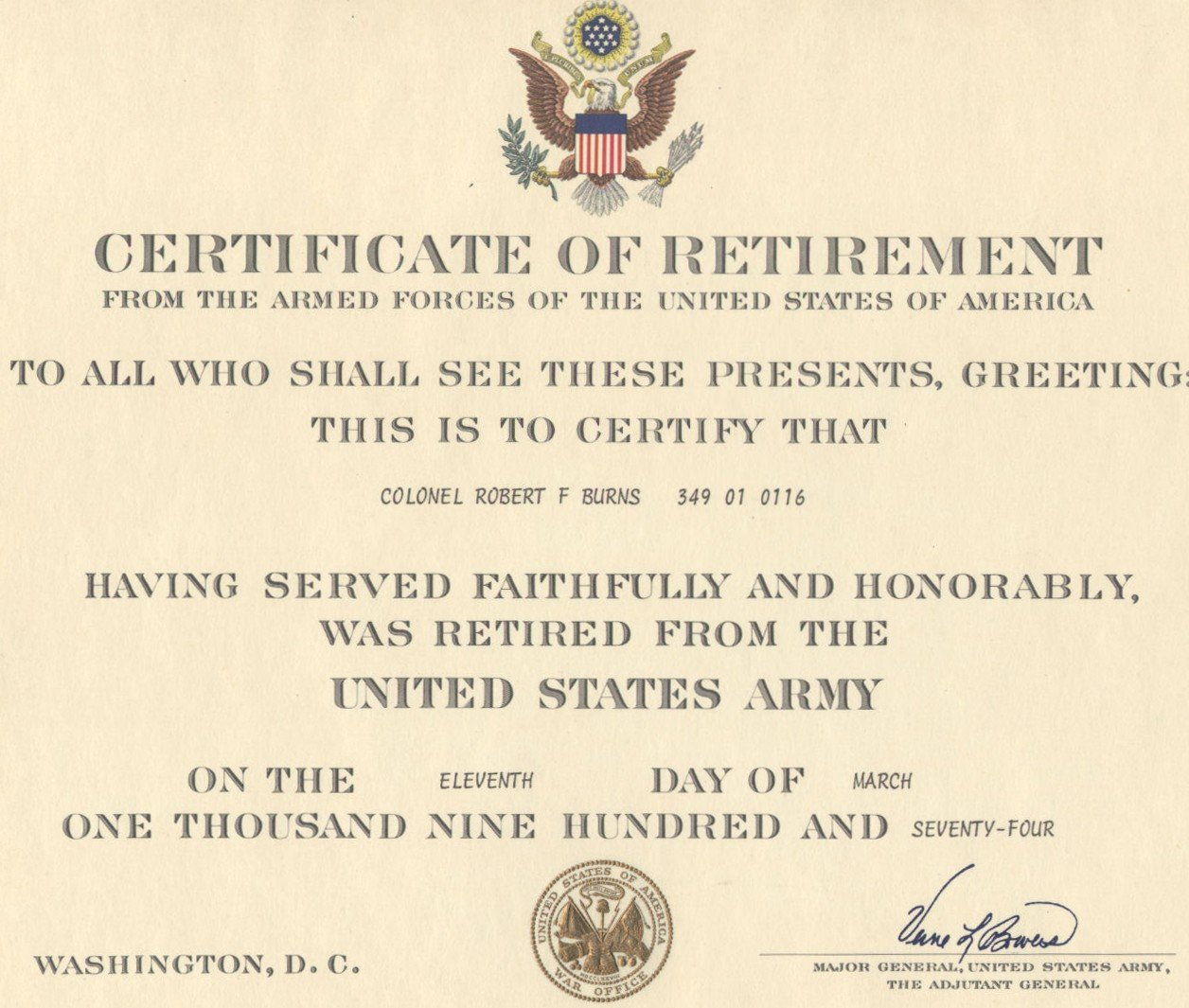 certificate sayings – Army Certificate of Appreciation Template