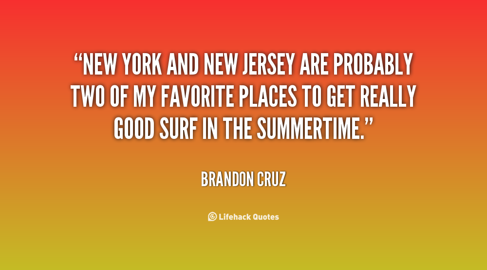 New Jersey Quotes And Sayings. QuotesGram