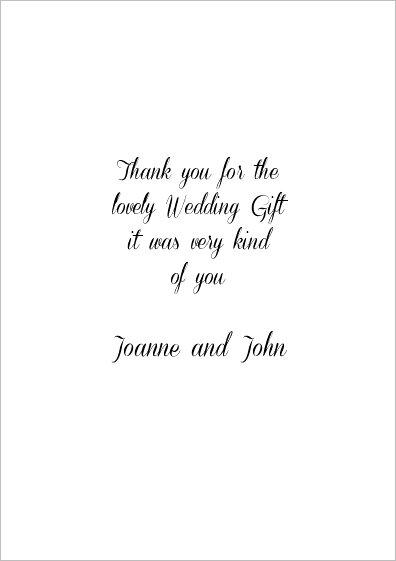 wedding thank you card sayings examples wedding thank you for ...