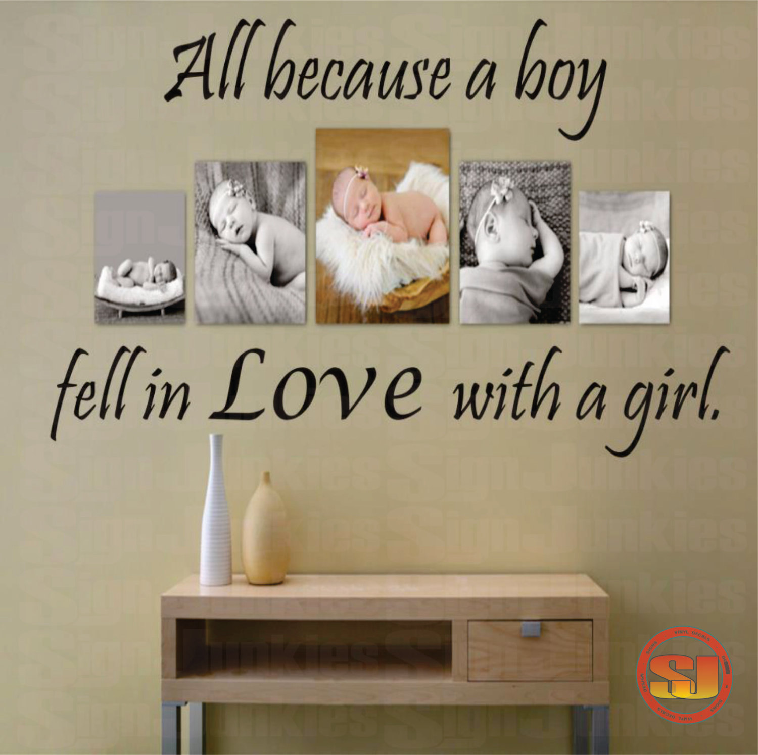 boy bedroom wall quotes quotesgram 10745 | 1252780970 love quote decal all because a boy fell in love with a girl bedroom livingroom photo wall nursery 22h x 36w 34 95 via etsy