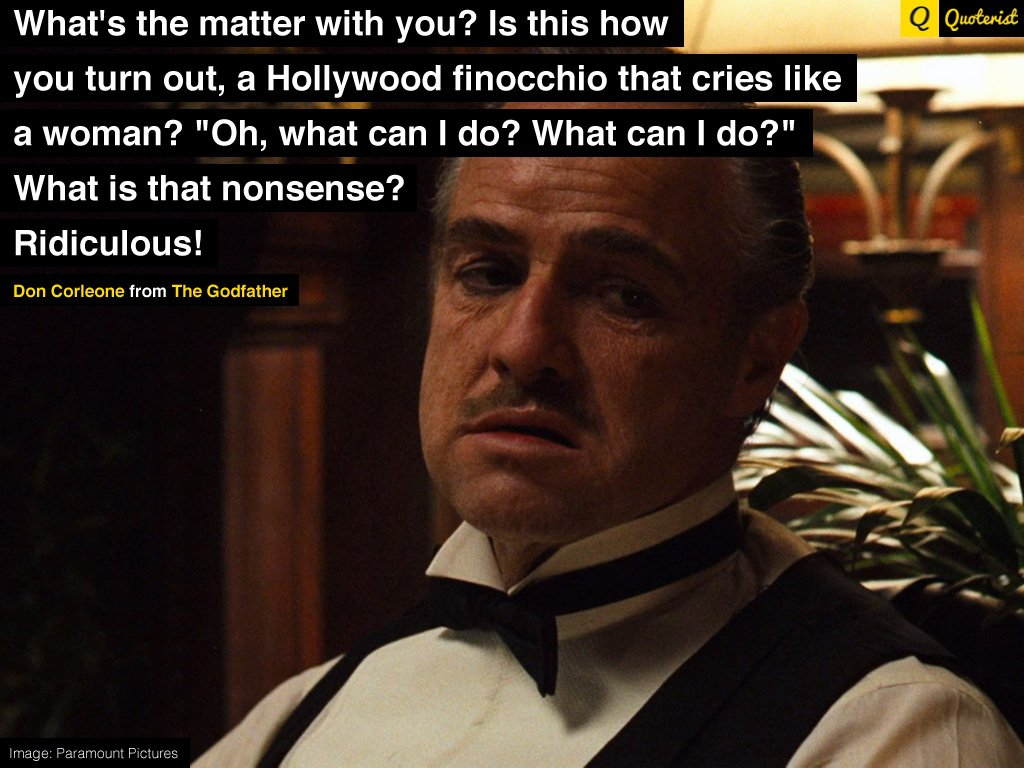 The Godfather Don Corleone Quotes Quotesgram
