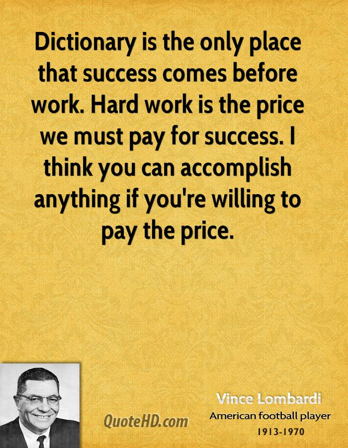 essay on vince lombardi September 13, 2013 bus 444301 teamwork at least once in your lifetime you will work in a team, whether it is at school, at work or with your significant.