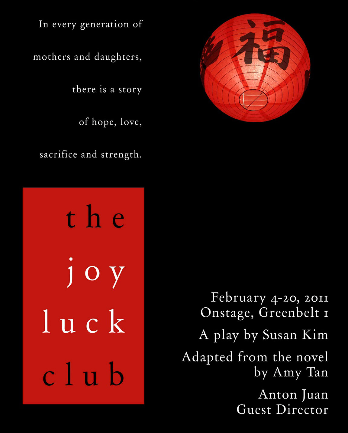 style analysis amy tan joy luck club Through the stories of the joy luck club, we peer into the secret-laden lives of  eight chinese  amy tan is the author of seven books, including the new york  times  in a yang fang yuan, a foreign garden house, meaning western in style.