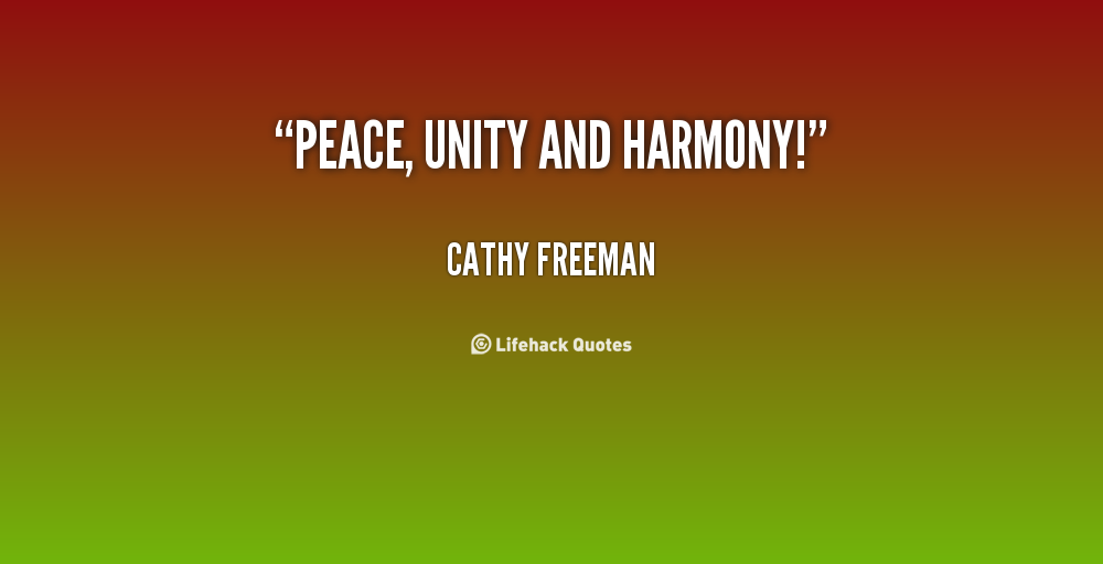 Peace And Harmony Inspirational Quotes Quotesgram