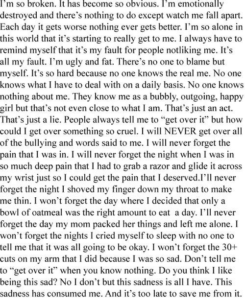 Sad Quotes About Self Harm. QuotesGram