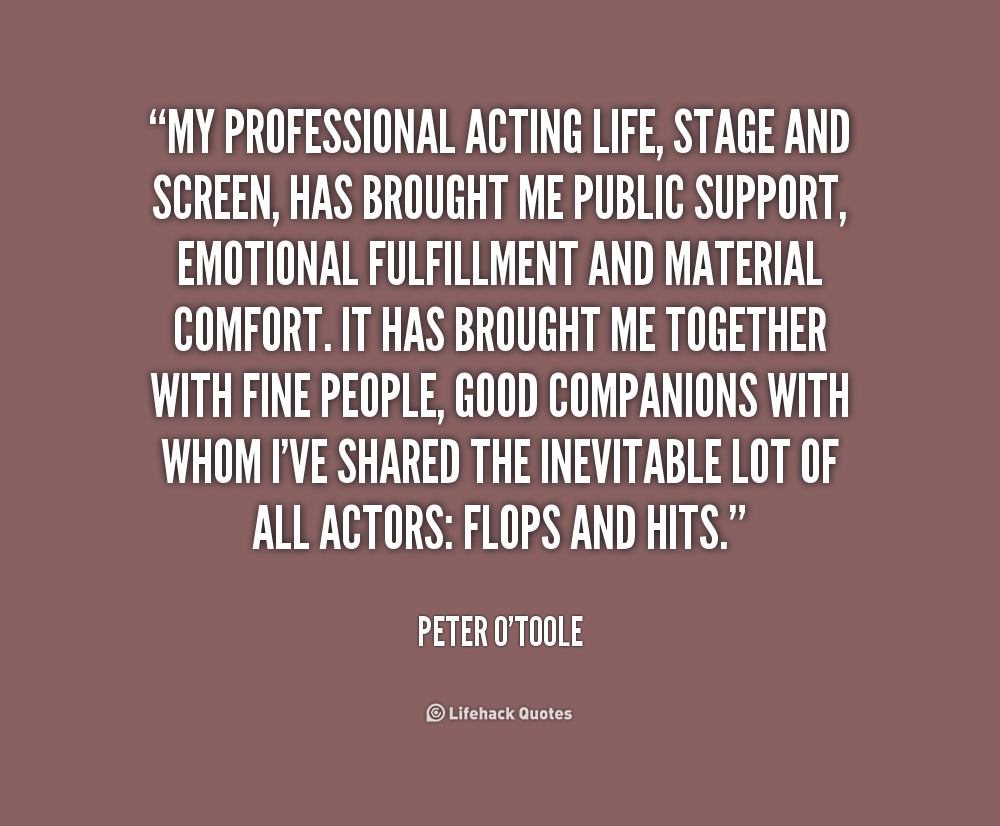 Acting Games