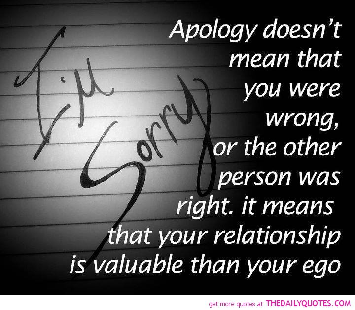 A friend of apology to words 8 Apology