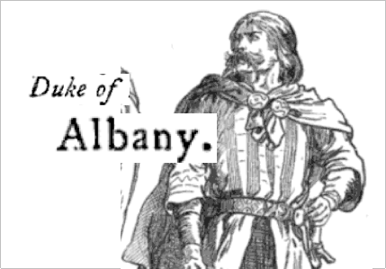 albany blindness king lear The earl of gloucester and the earl of kent observe that, by dividing his realm between goneril and regan, lear has awarded his realm in equal shares to the peerages of the duke of albany (goneril's husband) and the duke of cornwall ( regan's husband) kent objects to lear's unfair treatment of cordelia enraged by.