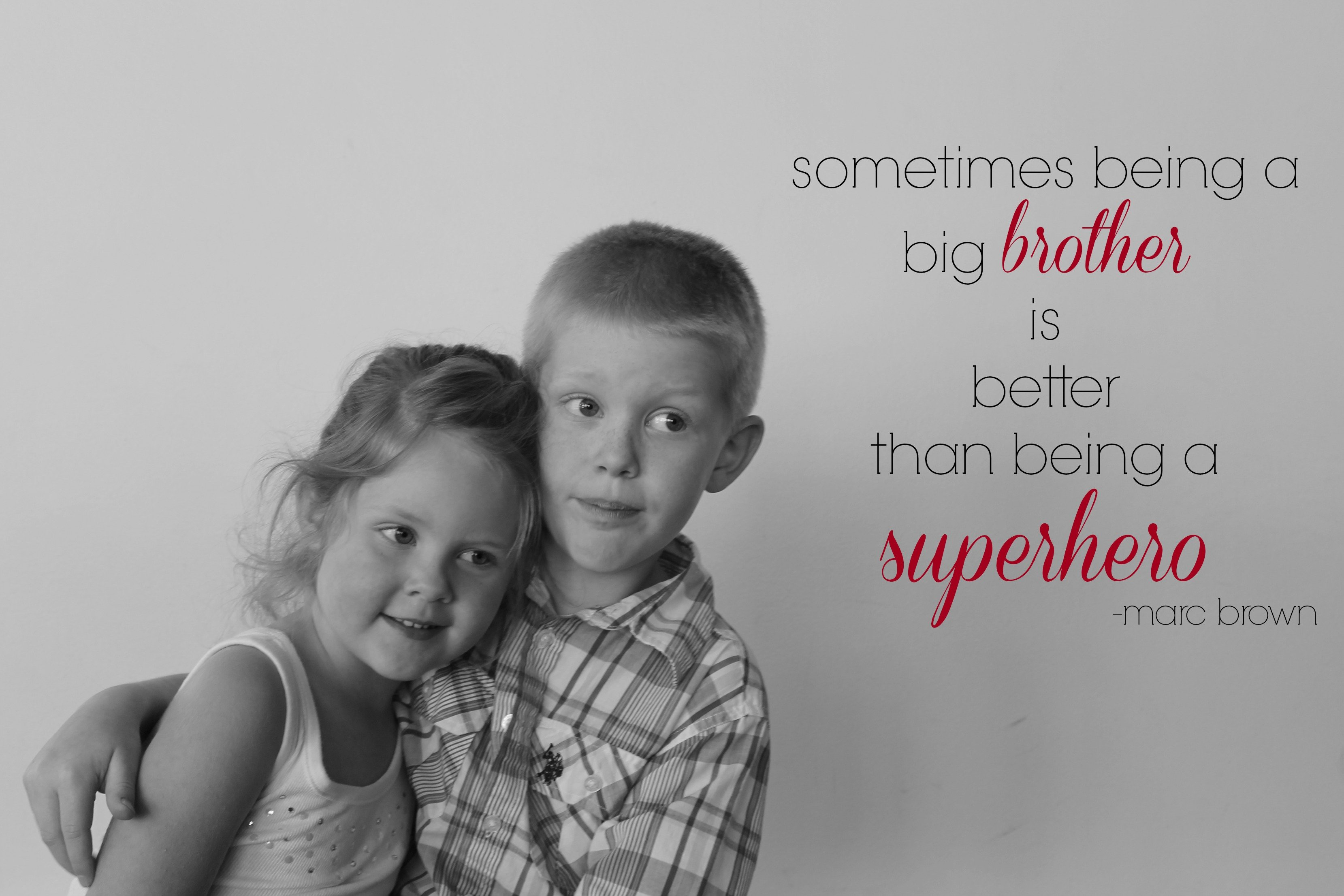 Quotes About Big Brothers And Little Sisters: Anmad Protecting Big Brother Little Sister Quotes. QuotesGram