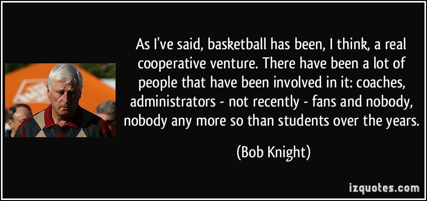 Bob Knight Quotes About Basketball. QuotesGram
