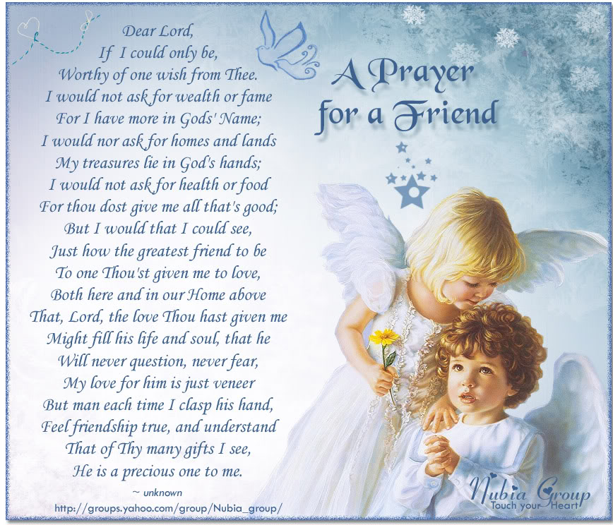 Prayer quote for a friend : Prayer quotes for friends quotesgram