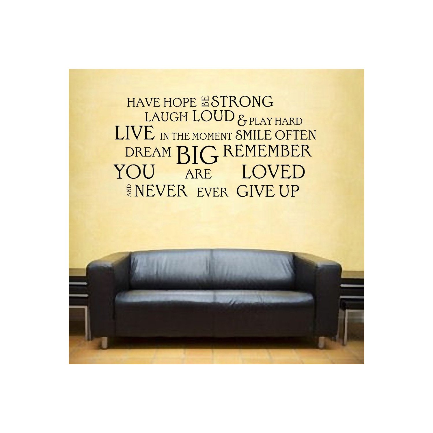 Wall Sticker Words Inspirational Quotes Wall Decals Quotesgram