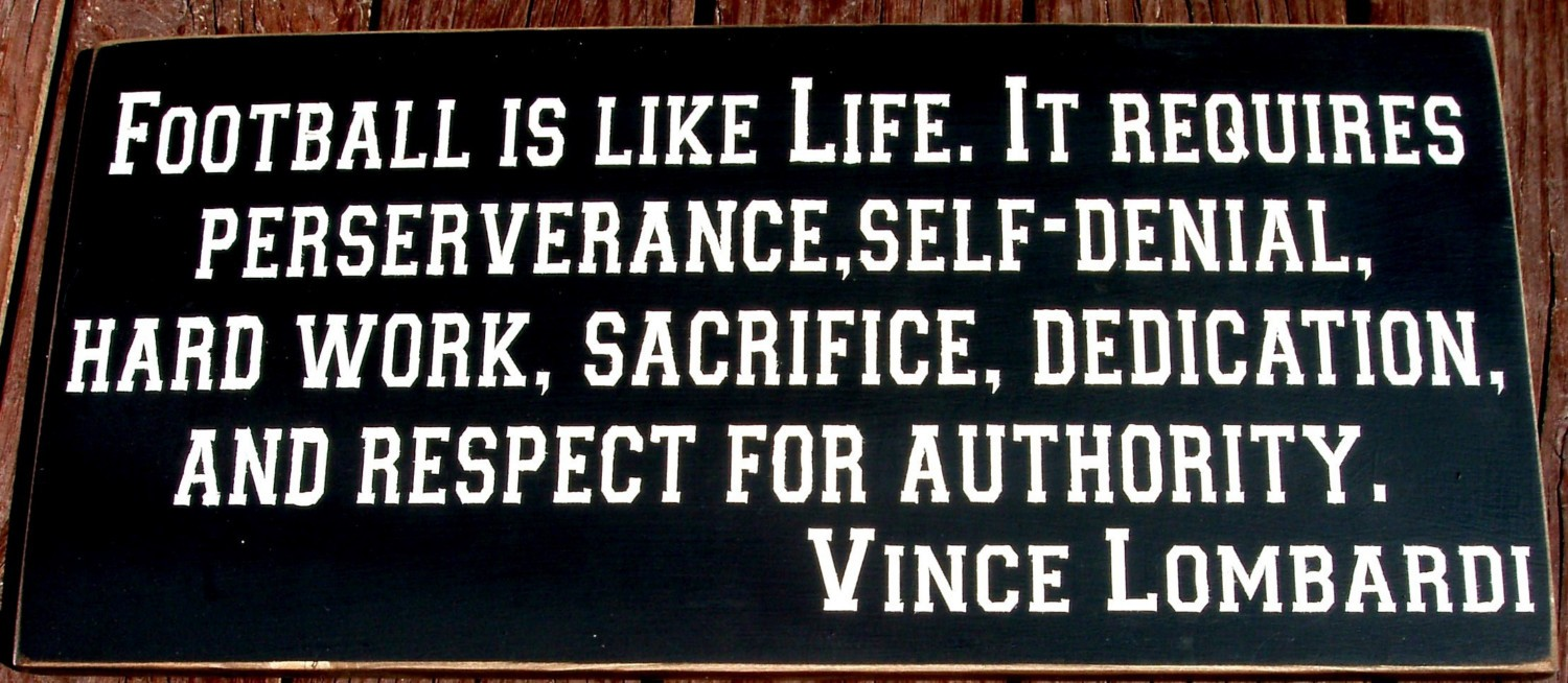 Inspirational Football Quotes: Inspirational Football Quotes Vince Lombardi. QuotesGram