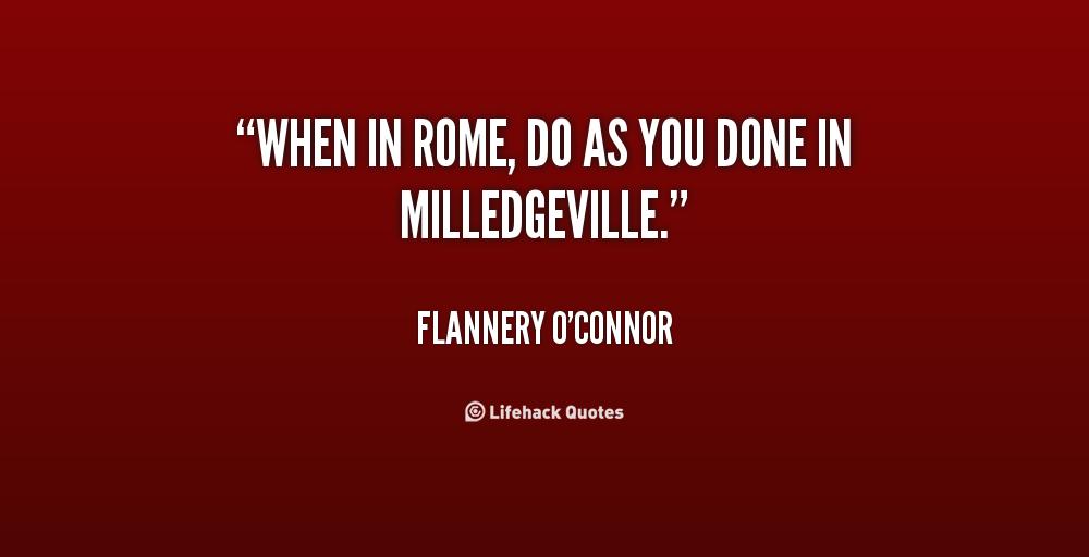 when in rome do as romans do essay