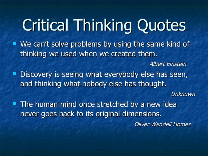 Critical Thinking Quote