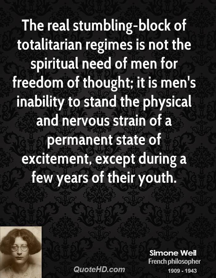 an analysis of the reality of the totalitarian state 1) no matter what the specifically national tradition or the particular spiritual source of its ideology, totalitarian government always transformed classes into to abolish the fences of laws between men - as tyranny does - means to take away man's liberties and destroy freedom as a living political reality for the space.