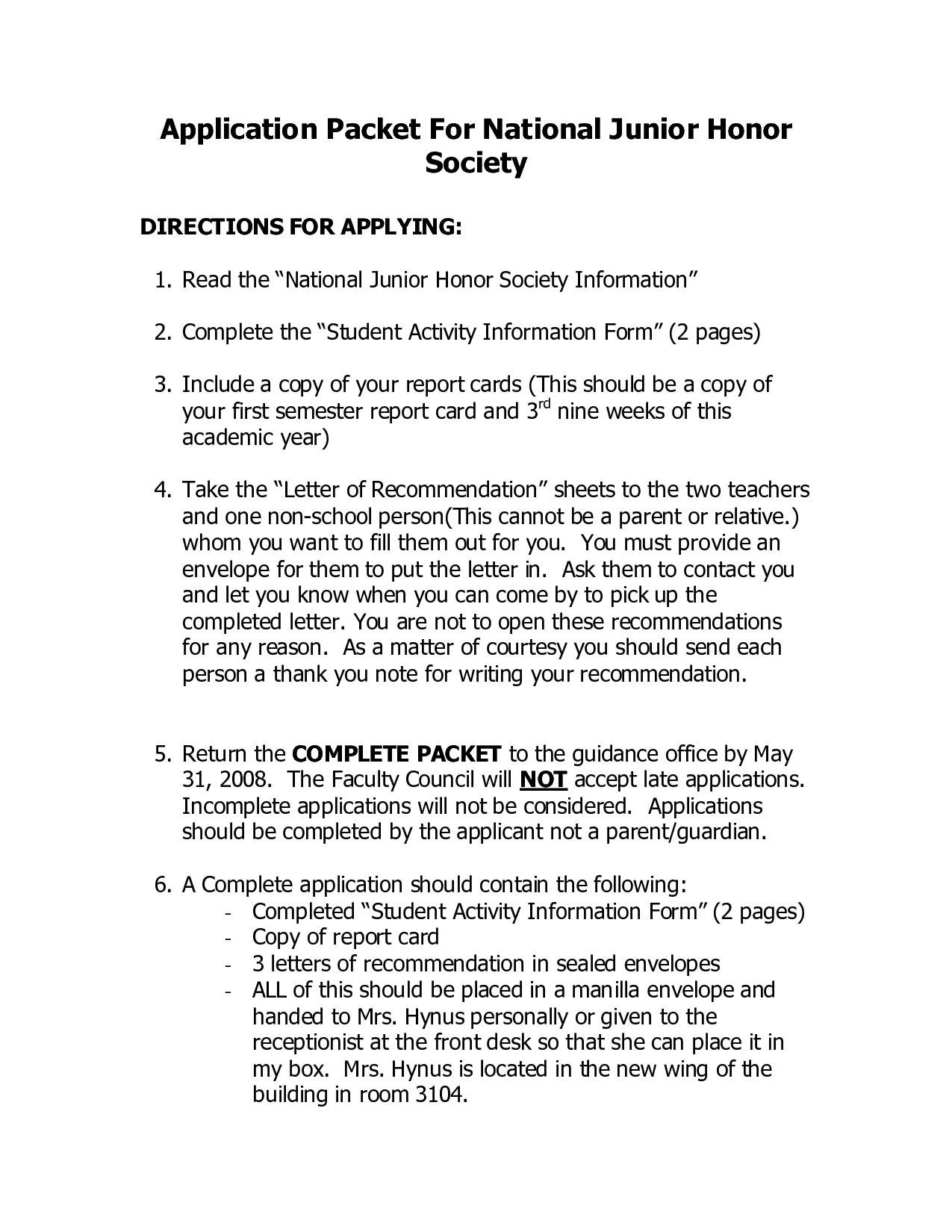 letter of recommendation template for college admission - national junior honor society quotes quotesgram