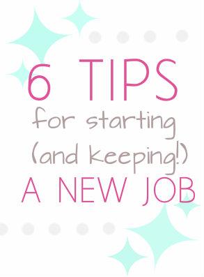 starting a new job