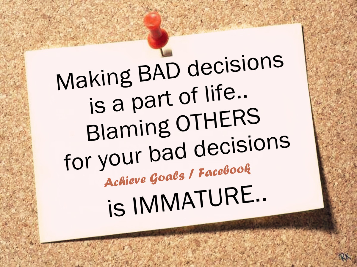 Quotes About Living With Bad Decisions. QuotesGram