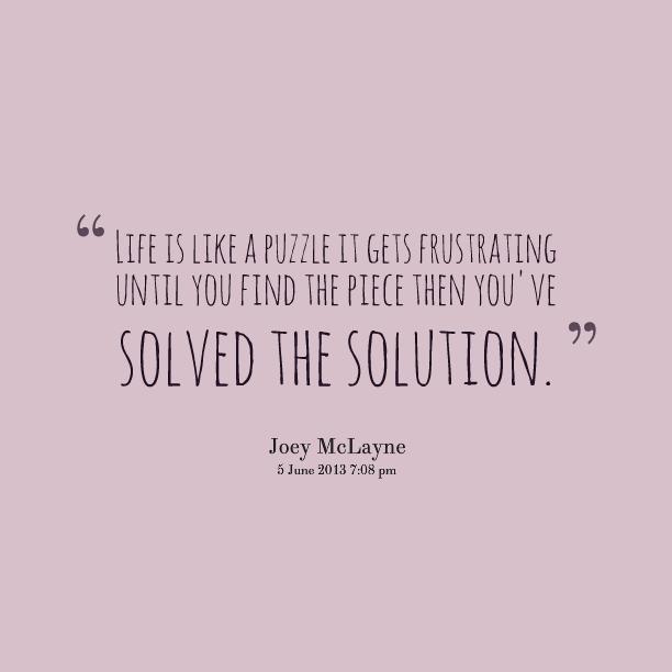 Love Puzzle Quotes: Puzzle Piece Quotes. QuotesGram