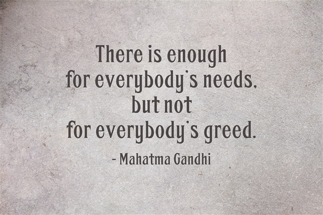 """of need and greed Why greed begets more greed bad behavior gets """"paid forward"""" more than kindness it need not be that way  voters need to elect a congress that will hold the executive branch accountable."""