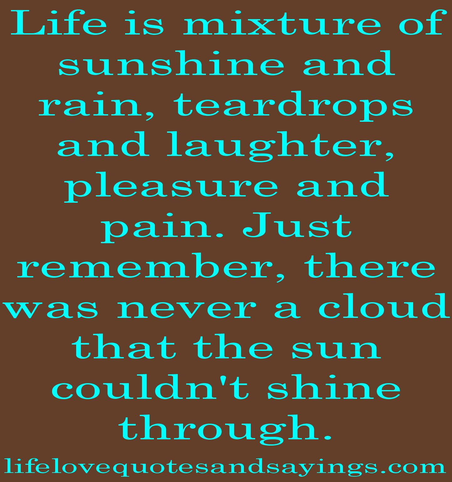 Quotes And Sayings: Sunshine Clouds And Quotes And Sayings. QuotesGram