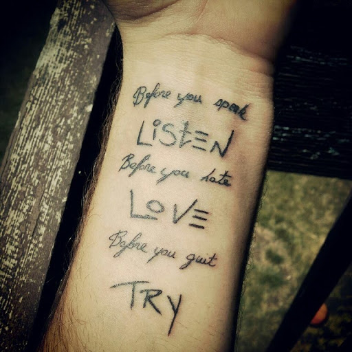 Tattoo Good Quotes: Good Quotes To Get Tattooed. QuotesGram