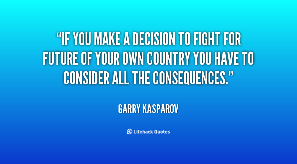 how to make your own decisions