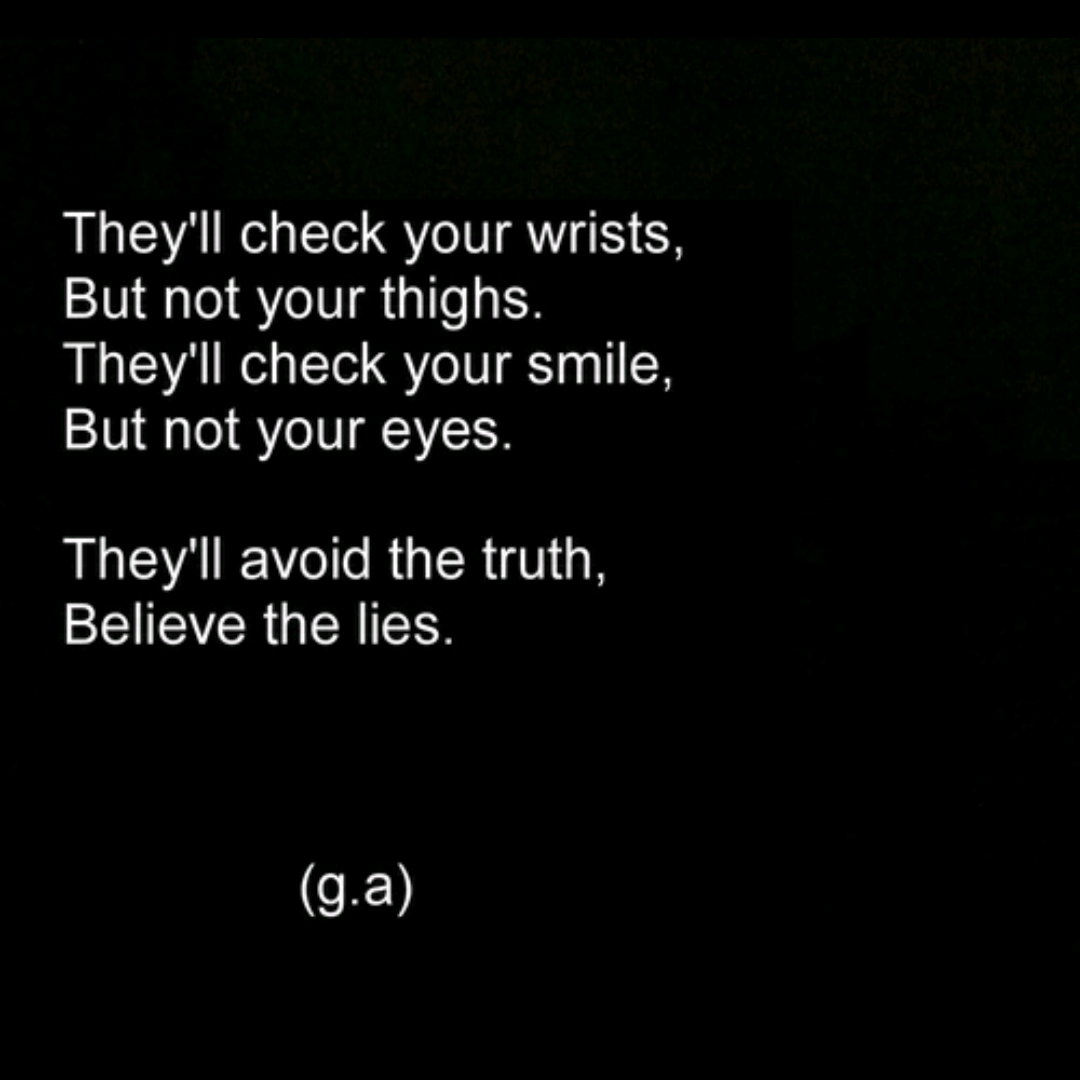 Self Harm Cutting Quotes: Self Harm Burning Quotes Yourself. QuotesGram