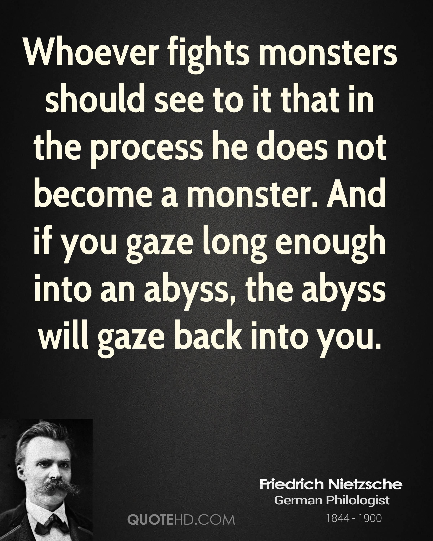 Gaze Into The Abyss Nietzsche Quotes. QuotesGram