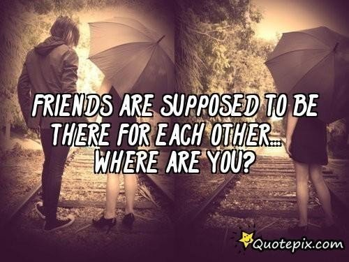 Sad Quotes About Friendship Tumblr Image Quotes At: Sad Quotes About Friends. QuotesGram