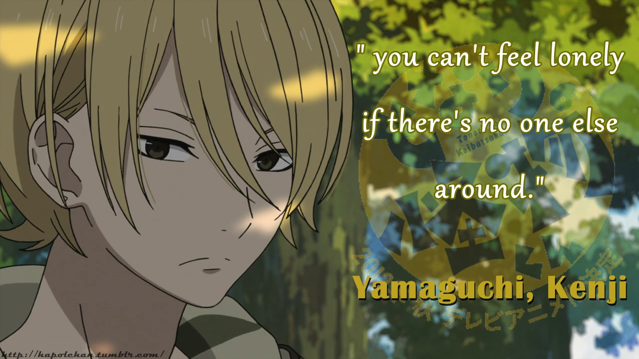 lonely anime quotes quotesgram