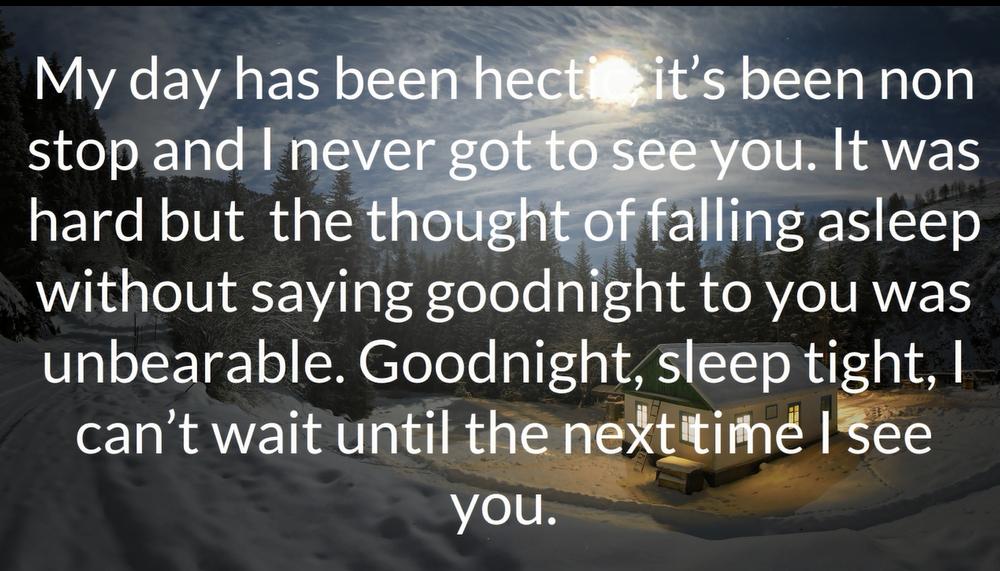 Night romantic quotes gud 60+ Cute