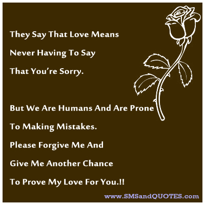 Please forgive me poems for her