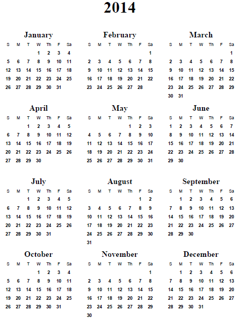 Printable 2014 Calendar With Quotes. QuotesGram