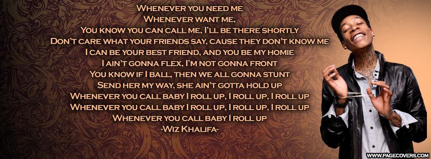 Wiz Khalifa Lyric Quotes Rap. QuotesGram
