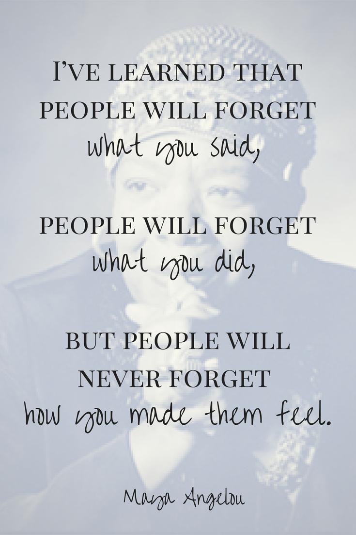 Feelings Maya Angelou Quotes