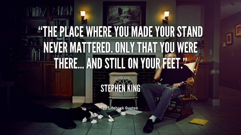 an analysis of stephen kings the stand What are some of the most notable quotes in the stand by stephen king ask new question thomas packer,  what is a good analysis of the stand by stephen king.
