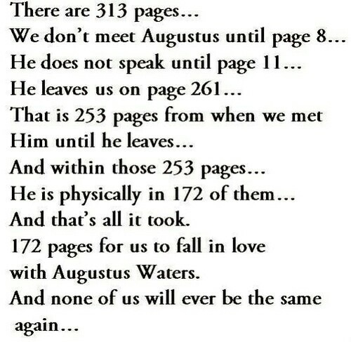 Inspirational person essay augustus waters