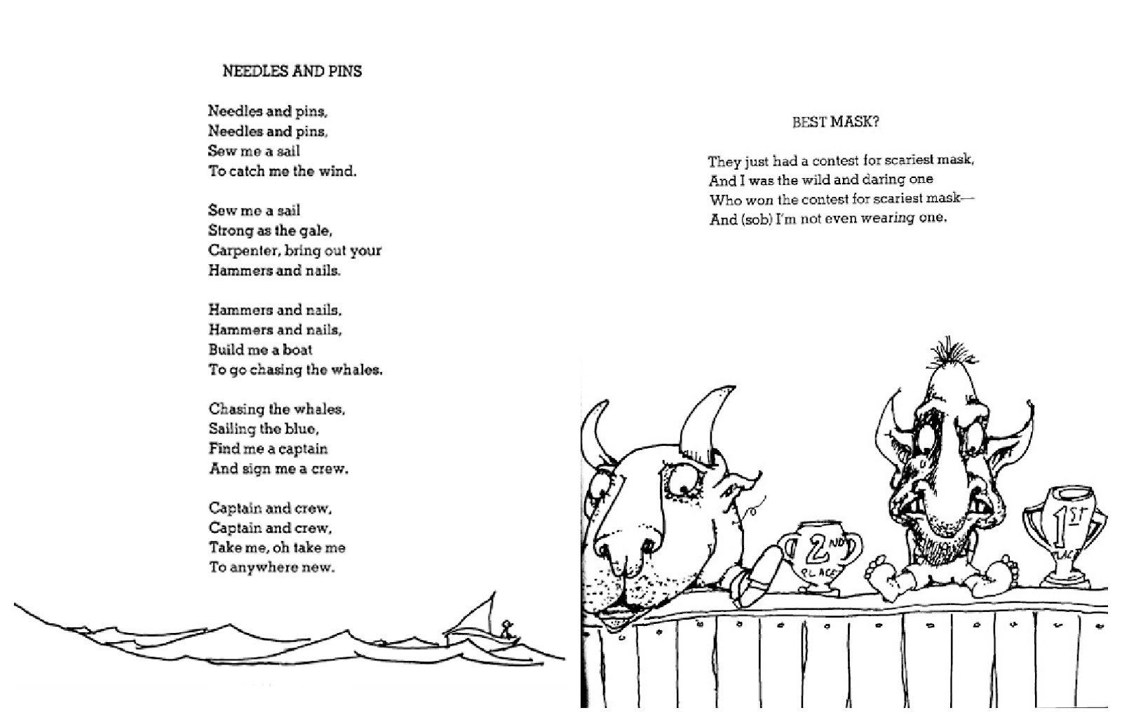 Shel Silverstein Wall Decal: Poems By Shel Silverstein With Idioms