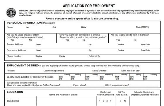 988150173-starbucks-job-application-form-pdf-printable-560x362 Job Application Form Starbucks on big lots, part time, free generic, sonic printable, blank generic,