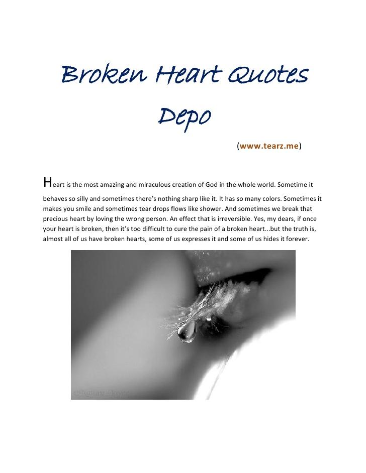 Best Broken Heart Quotes. QuotesGram