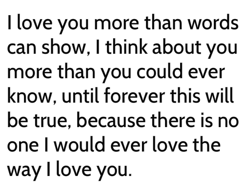 I Love You More Than You Know Quotes. QuotesGram